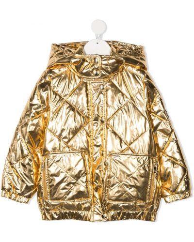 С рукавами желтое пальто классическое с капюшоном Sonia Rykiel