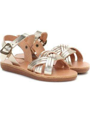 Skórzany sandały złoto żółty Ancient Greek Sandals Kids
