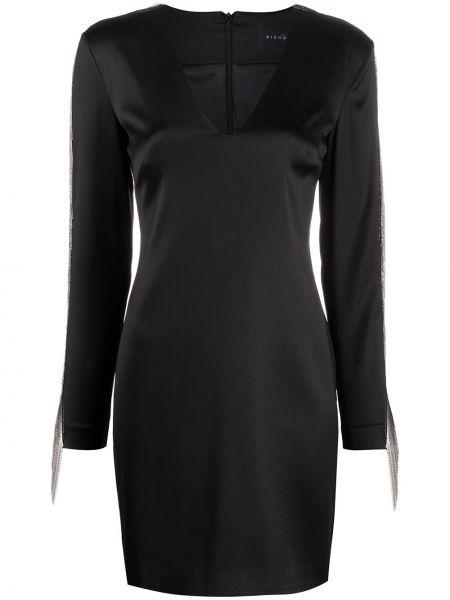 Платье макси длинное - черное John Richmond