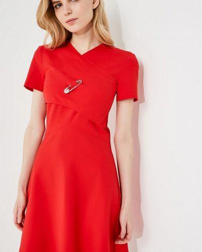 Платье весеннее красный Versus Versace