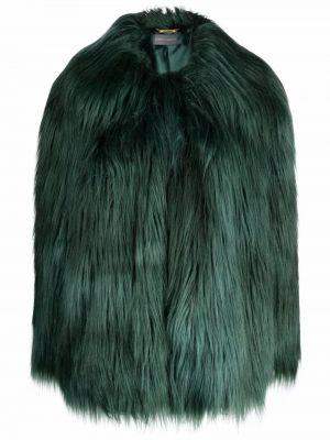 Зеленая акриловая шуба Alberta Ferretti
