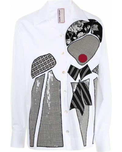Белая хлопковая рубашка Antonio Marras
