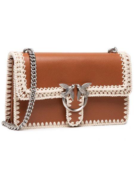 Klasyczna torebka - brązowa Pinko