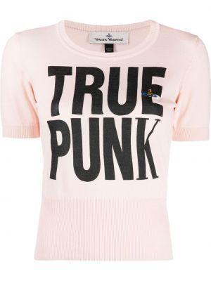 Хлопковая розовая футболка Vivienne Westwood