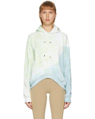 Bluza z kapturem na ramieniu zielony Collina Strada