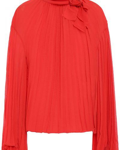 Текстильная облегченная плиссированная блузка Philosophy Di Lorenzo Serafini