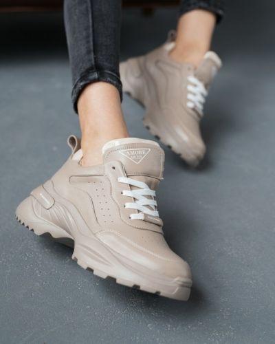 Кожаные кроссовки - бежевые Ditas