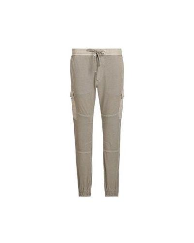 Хлопковые повседневные серые брюки Replay