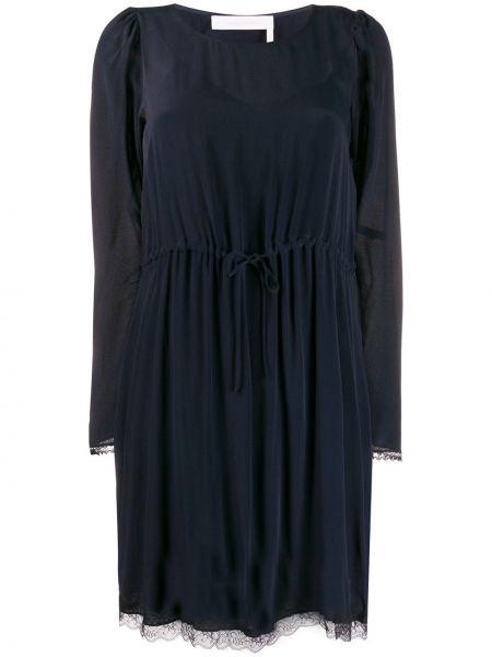 Приталенное платье с поясом See By Chloé