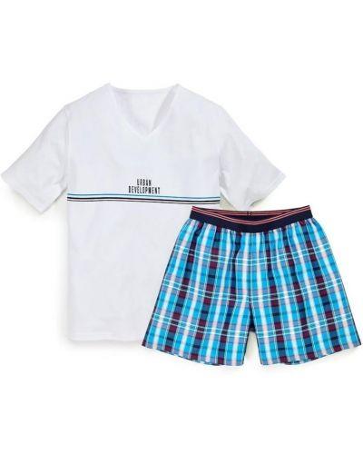 Пижама с шортами - белая Royal Class
