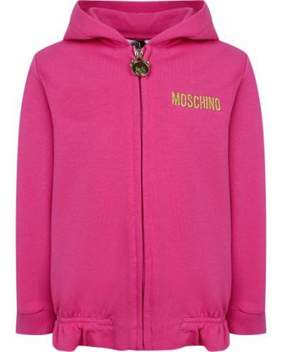 Розовая спортивная кофта Moschino