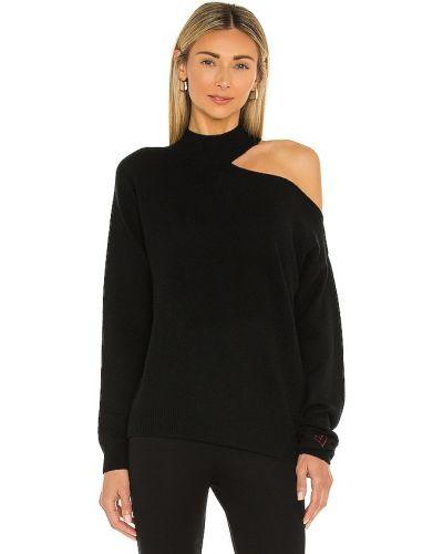 Трикотажный пуловер - черный 525
