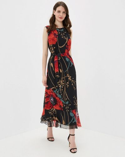 Платье прямое черное Yuna Style