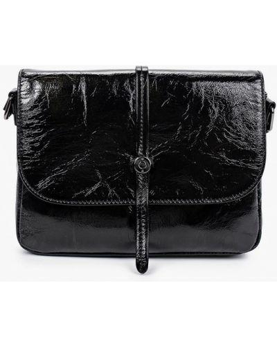 Черная сумка через плечо из натуральной кожи Valensiy