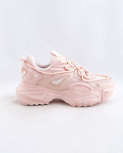 Розовые кроссовки осенние Baas
