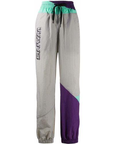 Спортивные брюки с манжетами серые T By Alexander Wang