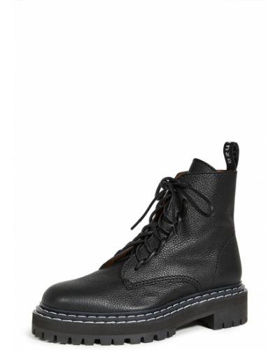 Ankle boots skorzane koronkowe sznurowane Proenza Schouler