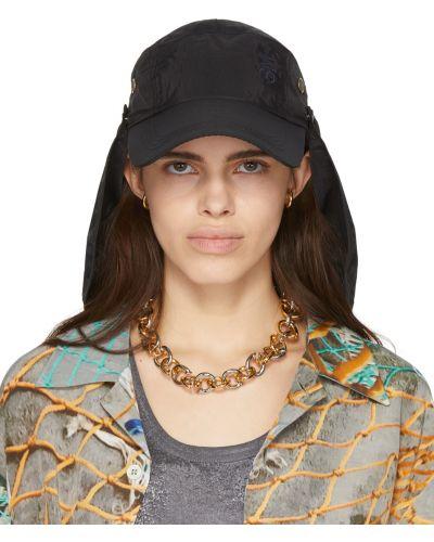 Czarna czapka bawełniana z siateczką Serapis