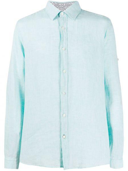 Koszula z długim rękawem klasyczna niebieski Boss