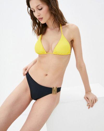 Желтый лиф с воротом халтер Moschino Swim