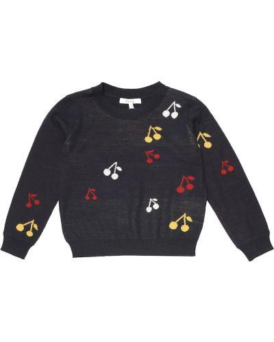 Шерстяной красный свитер Bonpoint