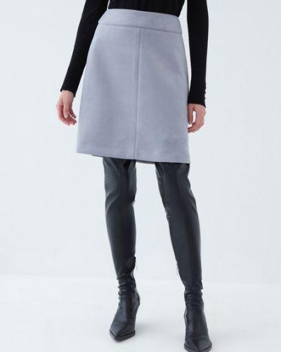 Серая юбка вельветовая Zarina