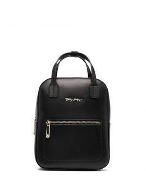 Черная сумка с ручками с карманами на молнии Tommy Hilfiger
