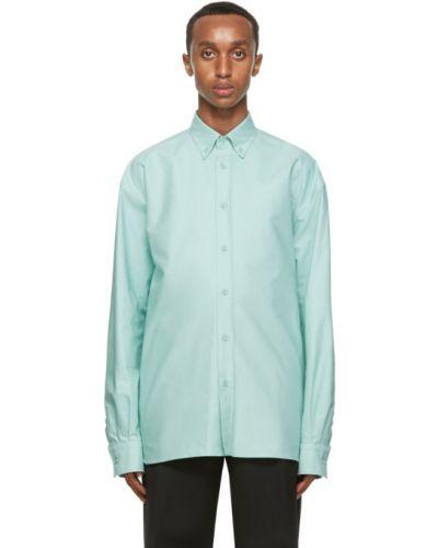 Зеленая рубашка с воротником с длинными рукавами Bottega Veneta