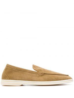 Beżowe loafers skorzane Scarosso