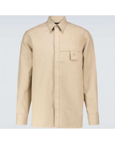 Beżowa koszula bawełniana zapinane na guziki Givenchy
