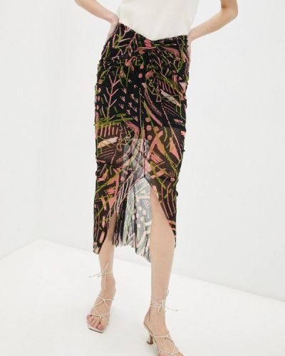 Разноцветная юбка Fuzzi