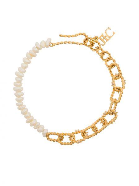 Złota bransoletka ze złota pozłacana perły Joanna Laura Constantine