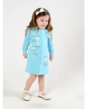 Коричневое платье на кнопках из футера мамуляндия
