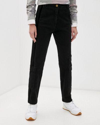 Черные брюки карго Aeronautica Militare