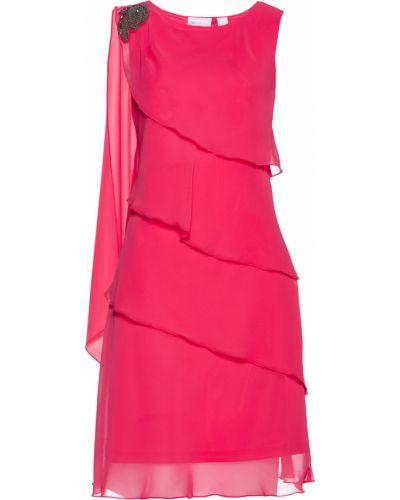 Платье шифоновое розовое Bonprix