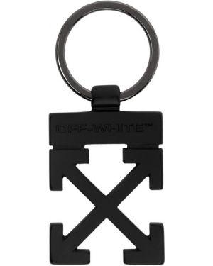Brelok czarny z logo Off-white