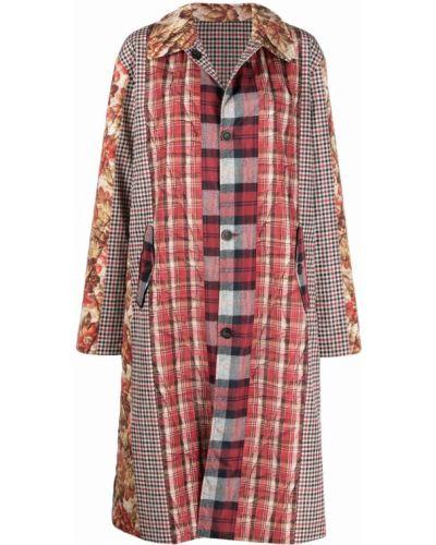 Красное пальто с воротником Pierre-louis Mascia