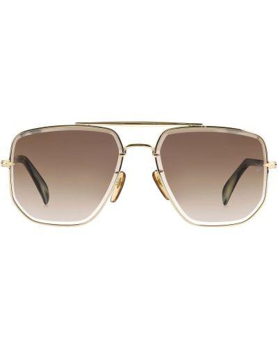 Złote okulary w paski Db Eyewear By David Beckham