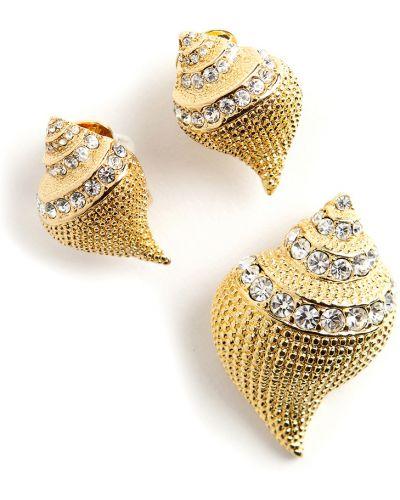 Żółty komplet biżuterii Kenneth Jay Lane Vintage