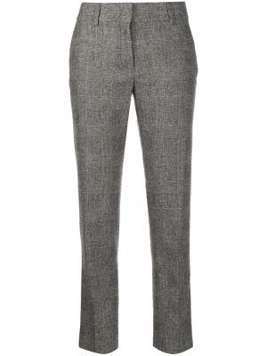 Шерстяные черные брюки дудочки с карманами Piazza Sempione