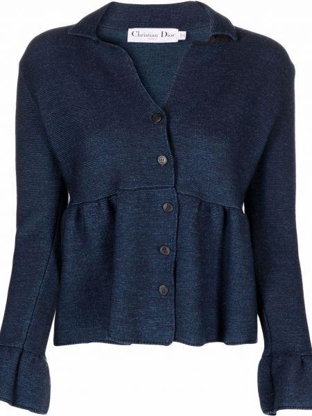 Niebieska kurtka wełniana Christian Dior