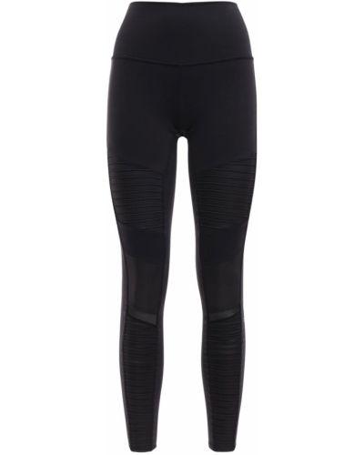 Czarne legginsy z wysokim stanem Alo Yoga