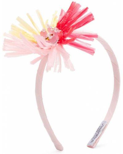 Różowe opaska do włosów Simonetta