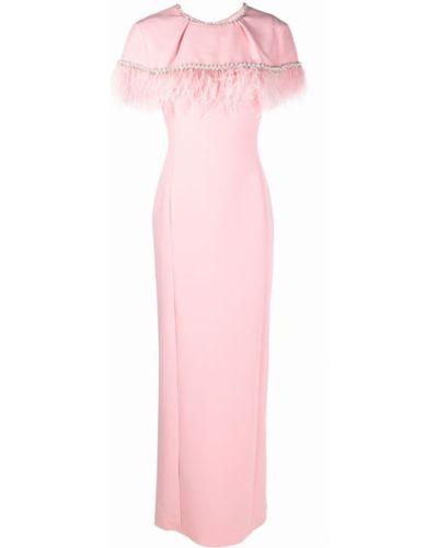 Розовая кейп с перьями Jenny Packham