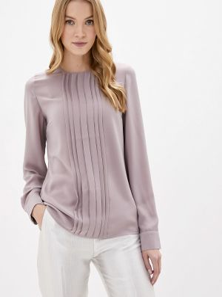 Розовая блузка с длинным рукавом Арт-Деко