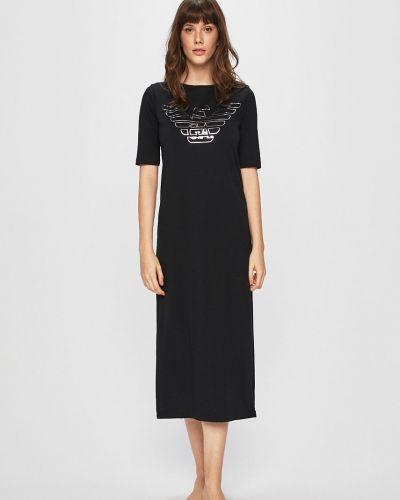 Черная пижама с рубашкой Emporio Armani
