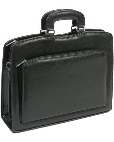 Кожаный портфель - черный Jurom
