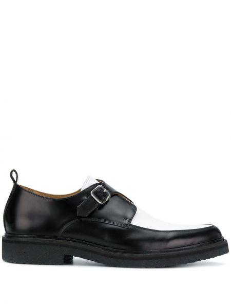 Черные кожаные криперы с тиснением Ami