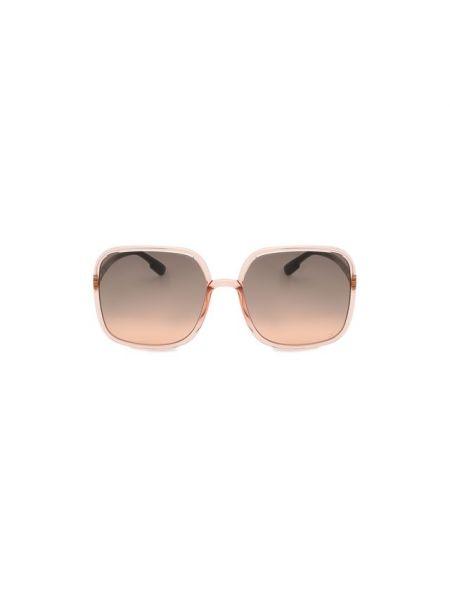 Муслиновые розовые солнцезащитные очки Dior