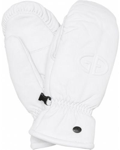 Biały rękawiczki z prawdziwej skóry Goldbergh